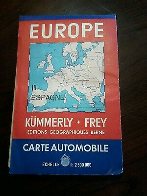 1952 Autokarte Touring Map of Europe fold out