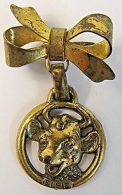 vintage Borden's ELSIE THE COW cow dairy milk FIGURAL brooch pin pinback *