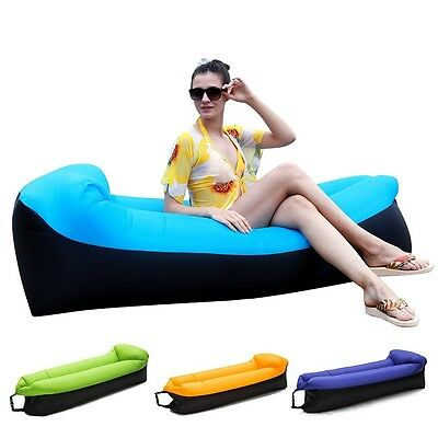 Inflatable AirSofa Chair lazy Beach Bed Air Sofa Lounge Camping Sleeping AirBed