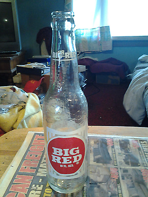Vintage 1970 Big Red Soda Pop Bottle 10 oz ACL Advertising Waco Texas Nice Old