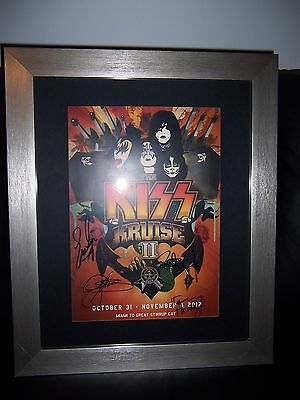 Kiss Signed Kiss Kruise 2 Framed Poster Signed By All Band Members