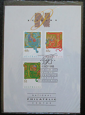 1993 National Philatelic Centre Souvenir Card - Christmas Stamps