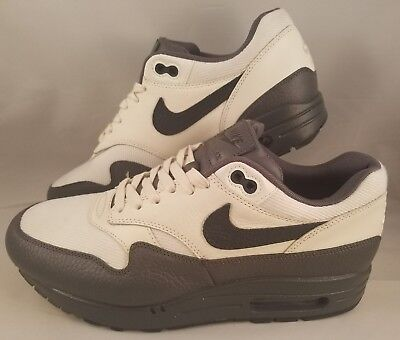 reputable site 36b13 4e1a5 Nike Air Max 1 Premium Running Shoes Men s Size 9 Sail Dark Obsidian Dark  Grey