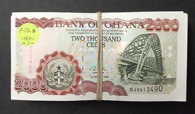 Ghana P33h, 2003, 2000 Cedis About 198 AU/CU notes