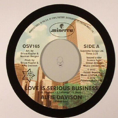 """New - Alfie Davidson (Love Is A Serious Business 7"""" /  12"""" Version) Osv 165"""