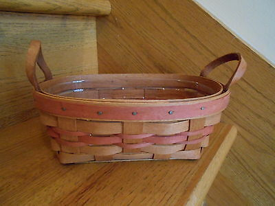 Longaberger  Small Oval Mother's Day Basket Set with protector *free shipping!*