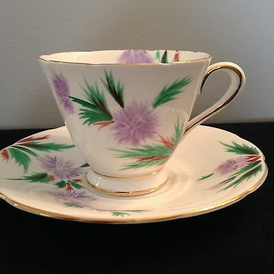 Tuscan (Wedgewood) Fine China Teacup and Saucer hand painted. FREE SHIPPING