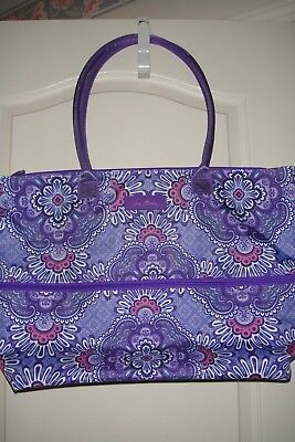 """Vera Bradley Lighten Up Expandable Travel Tote """"lilac Tapestry"""" Nwt!  $88 Retail"""