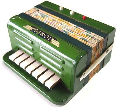 TOMBO vintage beautiful designed mini-accordion ART DECO style  Japan Very Rare!