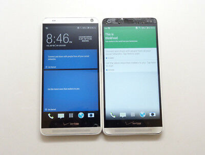 Lot of 2 HTC One Max 6600LVW 32GB Silver Verizon & GSM Unlocked Smartphone As-Is