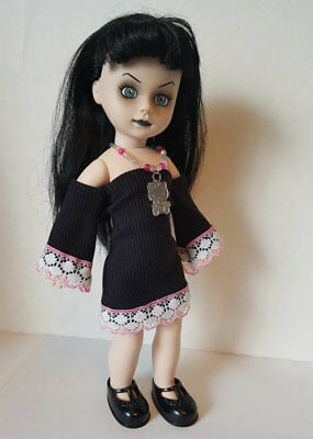 Living Dead Doll Clothes HELLO KITTY Dress & Necklace goth fashion NO DOLL d4e
