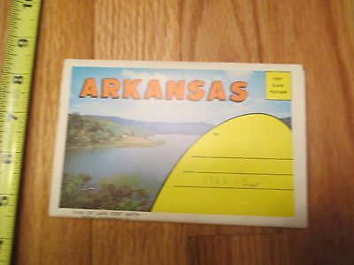 Arkansas AR travel Souvenir Folder Postcard