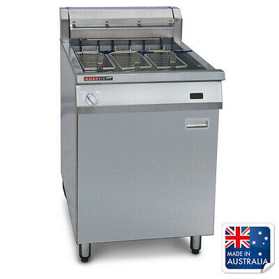Deep Fryer Single Vat 39L 3 Baskets with Rapid Recovery Austheat Equipment
