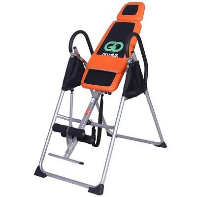 Heavy Duty INVERSION TABLE Training EQUIPMENT Padded Foam And Easy Grip Handles