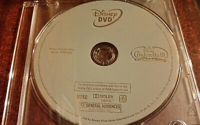 New 2012 Disney Cinderella 3 A Twist In Time Rare Special Edition Dvd Disc Only