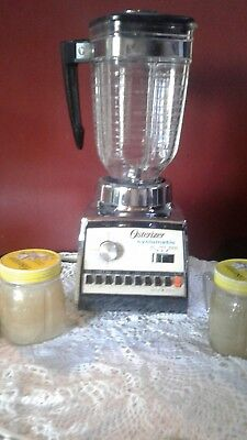 Vintage Osterizer Cyclomatic 10 spd. Chrone Blender with 2 mini-blend cups