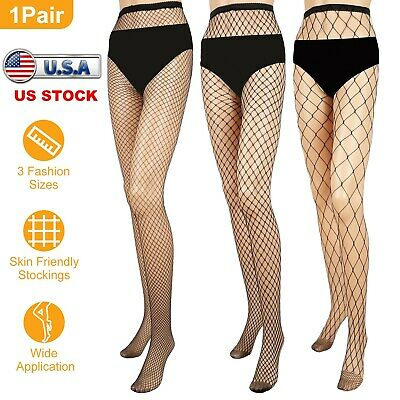 Women Ladies Black Mesh Fishnet Net Pattern Pantyhose Tights Stockings Sock US