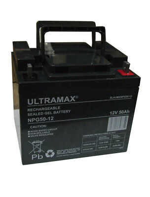 Paire - 2 x Ultramax 12v 50ah (batteries 38ah 40ah 45Ah) AGM / Gel