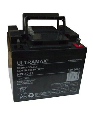 2 XPair ULTRAMAX 12V 50AH BATTERIES 38AH 40AH 45AH CYCLIQUE SCOOTER de mobilité