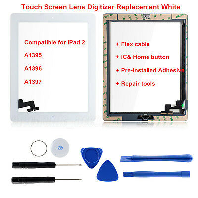 For iPad 2 A1395 A1396 A1397 Touch Screen Lens Digitizer Replacemet High Quality