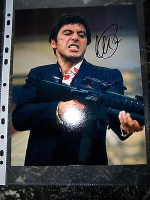 Al Pacino Signed 8X10 Scarface Photo With Coa