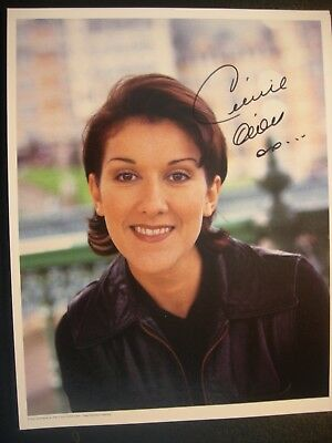 CELINE DION Authentic Autographed Photo from First Fan Club 1980's + 2nd Photo