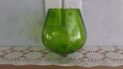 Large Green Brandy Balloon Bowl