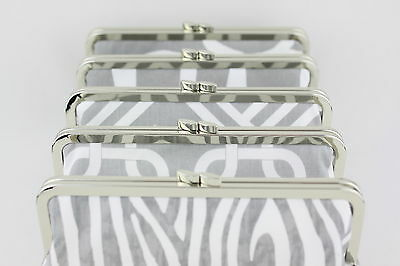 8 1/4 x 3 inch - Flat Claps - Silver Metal Clutch Frame - 10 PIECES