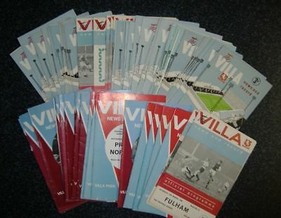 Aston Villa 1961-69 - Select Your Programme **FREE POSTAGE IN UK**