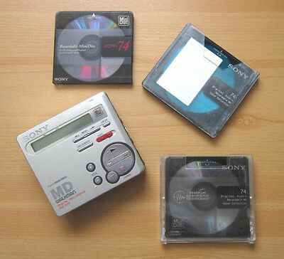 SONY MZ-R70 MD Portable Mini-Disc Player Digital Discman Recording Mega Bass gut