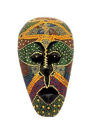 Good Hanging Wall Hand-Carved Wooden Face Mask From Bali Ebony 1 pc