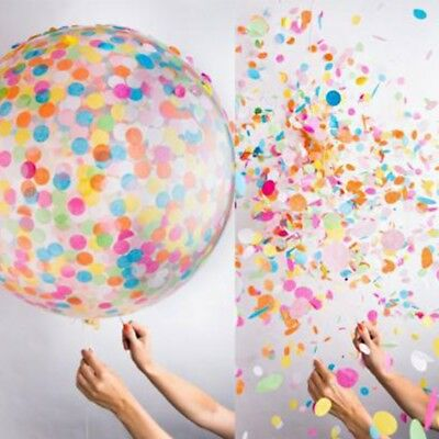 """Large 36"""" Clear Confetti Filled Balloons Birthday Party Wedding Decorations Room"""