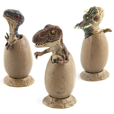 3pcs Dinosaur Cubs Hatch Egg Toys Chrismas Gift Car Decoration Plastic Ornaments