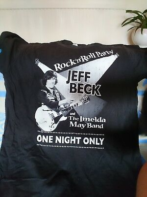 Jeff Beck 2011 rock n roll party honouring Les Paul with Imelda May tour t shirt