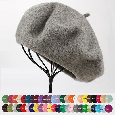 Women Artist Beanie Sweet Warm 100% Wool Winter Beret French Hat Ski Cap Hat New