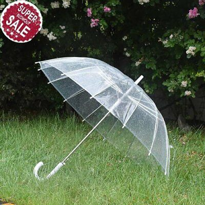 Clear Transparent Rain Umbrella Parasol PVC  for Wedding Party Favor BP