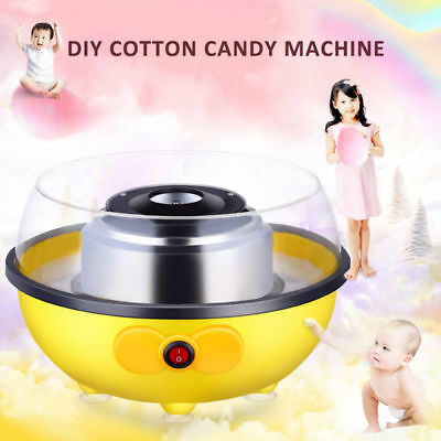 Cotton Candy Maker Machine Floss Home Party Carnival Party Fluffy Sugar EU Plug