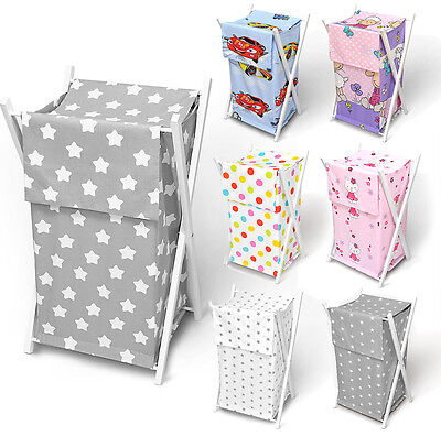 Baby Laundry Basket Nursery Hamper Bag Storage Bin With Removable Linen 70 Litre