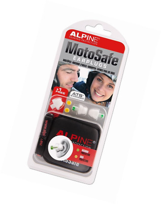 Alpine MotoSafe Earplugs - Earplugs for motorcyclists - 2 sets of filters