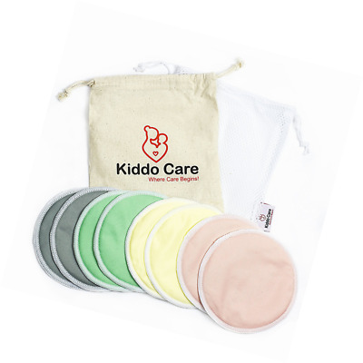 #1 BEST Washable Organic Bamboo Nursing Pads -8 PACK (4 pairs)- Reusable Breast