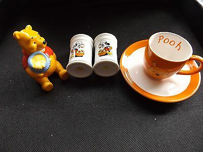 Stunning collection of Mickey Mouse Salt and Pepper plus Poo Cup/Saucer/figurine