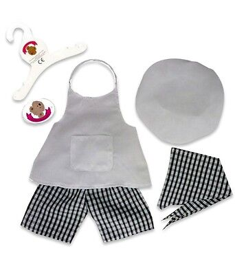 Teddy Bears Clothes fit Build a Bear Teddies Chef Cooks Uniform Cooking Outfit