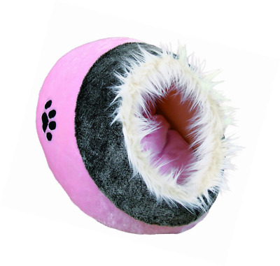 Trixie Minou Cuddly Cave Pink/Grey Cat Bed