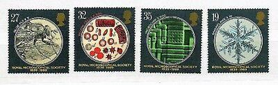 Great Britain 1989  - Microscopical Society - Full Set - Mint Nh Sg1453/56