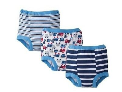 Gerber Baby Boys Cotton Potty Training Pants - Blue - Size 2T - 3-Pack - Nwt