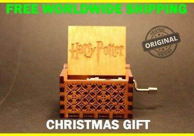 Engraved Wooden Music Box - Harry Potter FREE WORLDWIDE SHIPPING NOW