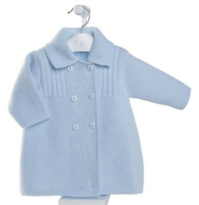 New AW17 Dandelion Baby Boys Knitted Double button baby blue coat/cardigan BNWT