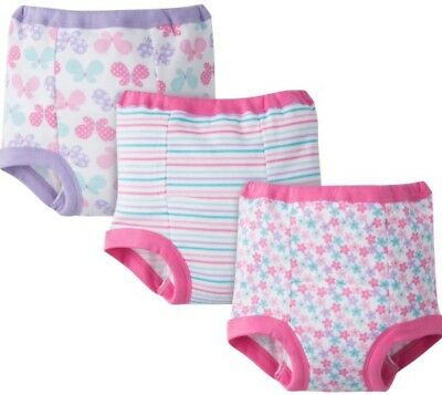 Gerber Baby Girls Cotton Potty Training Pants - Pink - Size 2T - 3-Pack - Nwt