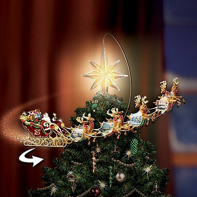 HOLIDAYS IN MOTION/KINKADE ROTATING TREE TOPPER - Lighted Moving