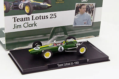 Altaya 1/43 1963 Jim Clark Lotus 25 #4 World Champion Formula 1 Model